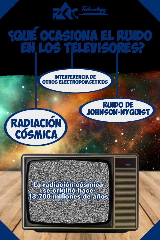 radiación cósmica y la televisión